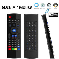 MX3 Qwerty Wireless Mini Keyboard 2.4GHz Fly Air Mouse IR Smart TV Controle Remoto Receptor USB para SMART Android TV Box Mini PC Tablet DHL