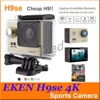 Wholesale Cheap Cmos Camera - EKEN H9se 4K Action Camera Wifi 2 inch LCD WIFI HDMI 30M Waterproof 12MP 2.7K 1080P 60fps Sports DV Helmet Cam Cheap H9 DHL 5pcs