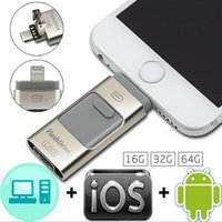 Für iPhone 7 6 Samsung Android Telefon PC 3 in 1 OTG USB3.0 Flash Drives 8GB-16GB-32GB-64GB Memory Stick Pendrive i Flash Drive