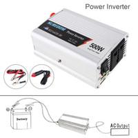 Wholesale dc ac power inverter transformer - 500W DC 12V 24V to AC 220V 110V Vehicle Power Inverter USB Adapter Portable Voltage Transformer Car Charger Surge Power 1000W CEC_62O