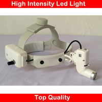 Wholesale Surgical Headband Headlight - Wholesale-3W Headband Medical LED headlights adjustable size big power and high intensity ENT specific product surgical light l
