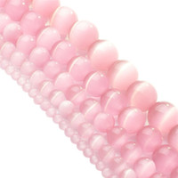 Wholesale Green New Jade Beads - Wholesale 2pc set package High Quality White Pink Green New! 5AAA+ Opal Cat Eye Beads for Making Jewelry Wholesale 4 6 8 10 12mm