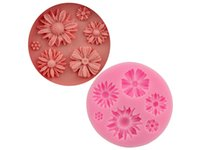 Wholesale sun moulds - Christmas Chocolate Mould Sun Flower Shape Cake Mold Silicone Fondant Mould for Cookie Cake Biscuit Jelly Baking Tools For Decoration