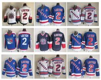 Wholesale Black Man Statue - Top Quality ! Men New York Rangers Ice Hockey Jerseys 2 Brian Leetch 1998 Statue Of Liberty Throwback Vintage CCM Authentic Stitched Jerseys