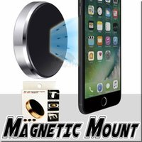 Wholesale sticky car mount phone holder online – Convenient Car phone holder metal magnetic car mount for Compatible Mobile phone sticky on your wall dashboard