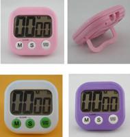 timers al por mayor-Temporizadores de cocina digitales Pantalla LCD digital Reloj de cocción de cocina Cuenta regresiva Arriba Reloj Alarma fuerte 6 colores KKA1600