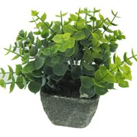 Green Artificial Plants In Terracotta Square Pots Green Bonsai Potted Plants  For Garden Office Home Decor 125 1030