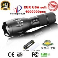 Wholesale Cree Flashlight Models - 2017 CREE XML T6 4000Lumens 5 model High Power LED Torches Zoomable Tactical LED Flashlights torch light for 3xAAA or 1x18650 battery