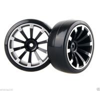 Wholesale Hpi Drift Wheels - 4x RC Hard Tires Tyre Plastic Wheel Rim HSP HPI 1:10 On-Road Drift Car 601B-6015