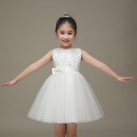 Wholesale Children Dance Images - Girls dress princess dress 2017 children summer flowers TongPengPeng skirt cuhk child dress baby dance costumes