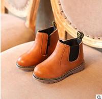 meninos sapatos quentes venda por atacado-Crianças Botas Meninos Neve À Prova D 'Água Sapatos de Crianças Botas De Couro Botas de Menino Meninas Martin Sapatos Quentes Sapatas Do Esporte 2136