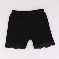 Wholesale Kids White Lace Tights - New Kid Girl Leggings Pants Lace Soild Black Gray White Cotton Breathable Fashion Leisure Summer Tights