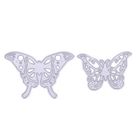 Wholesale Butterfly Die Cuts - 2pcs set Cutting Dies Metal Butterfly Cutting Dies Stencils for DIY Cutting Dies Die Cut Stencil Decorative Scrapbooking Craft