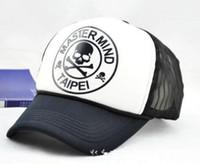 hip hop punk şapkaları toptan satış-Baskı Kafatası Mektuplar Kadın Erkek Hip Hop Beyzbol Güneşlik Kapaklar Örgü Ayarlanabilir Snapback Sokak Moda Şapka Punk Gorras Cadılar Bayramı