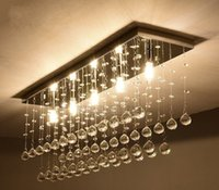 Wholesale contemporary chandelier light fixtures - Contemporary LED Luster Crystal Chandelier Interior Curtain Wave Lighting Fixture Wrought Iron Foyer Chandelier Bathroom Lamp LLFA