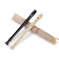Wholesale Clarinet Flute - Wholesale-Batoy 6 Holes Clarinet High Quality Flute Recorder Environmental ABS Soprano Flageolet White Black Color Free Shipping