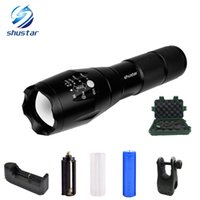 Wholesale High Power Waterproof Work Light - G700 E17 CREE XML T6 3800Lumens High Power LED Torches Zoomable Tactical LED Flashlights torch light for 3xAAA or 1x18650 battery