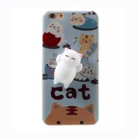 Wholesale lovely cat iphone for sale - Cute Squishy Cat Panda Soft Phone Cover for Apple iPhone s Plus plus Plus Lovely Cellphone Covers