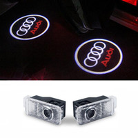 Wholesale Led Audi - Car door courtesy led car laser projector Logo Light For Audi a3 a4 b6 b8 b7 b5 tt a4l a1 a6l q3 a8l