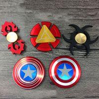 Wholesale Evil Toys - Captain America Shield Iron Resident Evil Man Hand Spinner 3 Styles Alloy Tri-Spinner Fidget Iron Man Puzzle Spinner Toys Finger Gyro