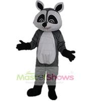 Wholesale Raccoon Mascot - Little Raccoon Adult Costume Mascot Size Halloween Fancy Dress Suit