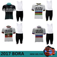 Wholesale Men Cycling Jersey Sets - 2017 Bora Cycling jerseys Ropa Ciclismo Cycling clothing Pro Cycling Jersey Bicycle sets Mountain MTB Bike maillot Ciclismo Maillot 5 Styles