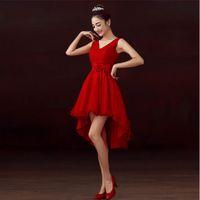 vestidos vermelhos de festa de noivado venda por atacado-Vestidos de festa de casamento de noivado outono a noiva da dama de honra linda saia bolha saia vermelha saia vestido o desgaste da mulher grávida