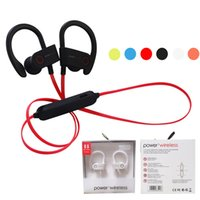 Wholesale Ear Hooks For Running - Power 3 Sports Wireless Bluetooth Earphone Ear Hook Stereo Super Bass Running Headset Headphone Earphones With Mic For iPhone X 8 Samsung