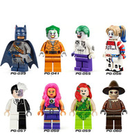 Wholesale Poison Ivy - 2017 New 8pcs set PG8013 Bat Movie Super Hero Suicide Squad Joker Harley Quinn Two-Face Poison Ivy Scarecrow Building Blocks Kids DIY Toys