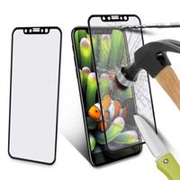 cristal claro delantero iphone al por mayor-Protectores de pantalla de vidrio templado 5D para Iphone XS MAX XR X XS 8 7 6 6S Plus Película frontal Protector de pantalla de cubierta completa transparente con caja al por menor