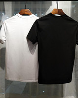 Wholesale Men Shirt Designs - 16506 Runway Fashion Letter Design Men's Casual Cotton short sleeve T Shirts Women Slim Asian size M-3XL
