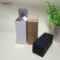 pulverizador de válvula al por mayor-100 unids-4.8 * 4.8 * 14.5 cm caja de empaquetado de papel en blanco para 100 ml botella cuentagotas aceites esenciales aerosoles tubos de válvula de muestra- negro blanco Kraft