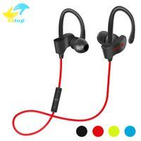 Wholesale Handsfree Bass - 56S Wireless Bluetooth Earphones Waterproof IPX5 Headphone Sport Running Headset Stereo Bass Earbuds Handsfree With Mic
