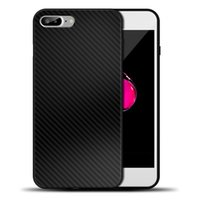 Wholesale Carbon Fiber Iphone Skin - Carbon Fiber Case For iPhone 7 Plus Twill Skin Hybrid Soft TPU PU Back Cover Case Shockproof Back Cover For iPhone7 6S Plus
