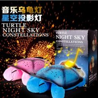Led Turtle Projector for sale - Romantic Colorful Music Plush Turtle Toys Flash Led Night Light Plush Lamp Doll Children Sleep Star Projector Toys L459