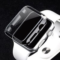 Wholesale Cases For S2 - clear hard watch case Ultra Thin(0.5) Full Body Case for Apple smart Watch S1 S2 38MM 42MM PC defender cover protector case GSZ207