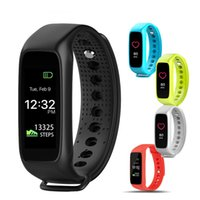 Wholesale Tft Wrist Monitor - Original L30T Bluetooth Smart Band Dynamic Heart Rate Monitor Full color TFT-LCD Screen Smartband for Apple IOS Android Smartphone