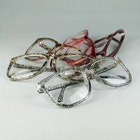 Wholesale Glasses Nerd Style - Nerd Geek Style Big Eyes Optical Glasses Simple Design 5 Colors Frame Cheap Decorative Only Eyewear