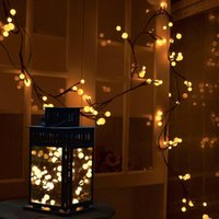 Wholesale Flexible Ice - Flexible Rattan LED String Lights with 72 Bulbs Waterproof Copper Wire Globe Fairy Lights for Bedroom Patio Garden Wedding Party Christmas