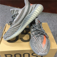 Wholesale Big Orange Box - 2017 NEW SPLY 350 V2 BB1826 Beluga Big Size 36-48 Grey Orange Solar Kanye West V2 Sply BOOST Running Shoes with Original Box