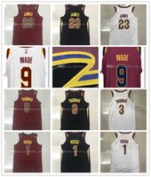 Wholesale Browns Jerseys - Mens 2017-18 New season jerseys 23 LeBron James 9 Dwyane Wade 1 Derrick Rose 3 Isaiah Thomas 100% Stitched jersey free shipping.