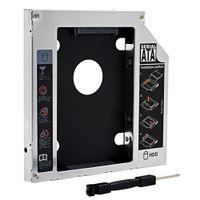 "Wholesale Dvd Case Enclosure Sata - Wholesale- Original Universal Aluminum 2nd HDD Caddy 12.7mm SATA 3.0 2.5"" HDD Case SSD Enclosure ODD DVD-ROM Optibay"