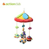 Wholesale Cartoon Baby Cot - Wholesale- Actionclub New Arrival toys for baby boys cartoon car plane educational rattles music mobile in cot rotate stroller rattle