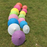 Wholesale Oil Painting Bamboo - Diamter 84cm 33 Inches Chinese Craft Bamboo Oiled Paper Umbrella Wedding Supplies DIY Painting Paper Parasol