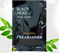 Wholesale Nose Pore Suction - PILATEN Suction Black Mask Face Care Mask Deep Cleaning Tearing Style Pore Strip Deep Cleansing Nose Acne Blackhead Facial Mask 300pcs