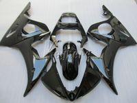 juegos de carenado r6 al por mayor-Juego de carenado para motocicleta YAMAHA R6 2003 2004 2005 carenado negro brillante conjunto YZF R6 03 04 05 IY14