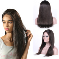 Direct Factory Price Lace Front Perucas de cabelo humano para mulheres pretas Pre Plucked Hairline Straight Brazilian Virgin Hair Wigs With Baby Hair