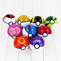 Wholesale Free Shipping Ems Super - EMS 10CM 9 Styles Poke Ball Figure ABS Action Figures Toys Super Master for kids gift Free Shipping