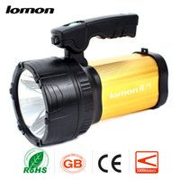 Wholesale High Power Led Flashlight Bulbs - Rechargeable Spotlight XML T6 LED Handle Torch Portable Flashlight Handheld Searchlight + Charger High Power Super Bright Camping Light Hot