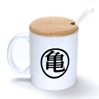 Wholesale White Dragon Ceramic - Dragon Ball Z Mug Coffee Milk Ceramic Cup Creative DIY Gifts Mugs 11oz With Bamboo cover lid Spoon S151